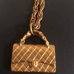 Chanel Handbag Necklace Vintage